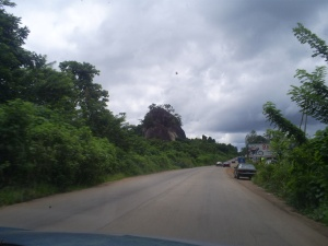 The road to Akure